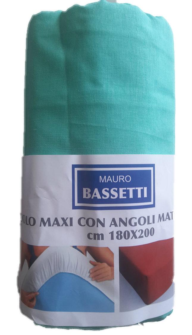 Lenzuola Matrimoniali Maxi Bassetti.Lenzuolo Matrimoniale Maxi Con Angoli Tinta Unita Mauro Bassetti
