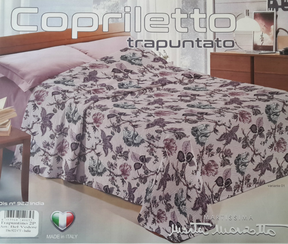 Copriletto trapuntato matrimoniale Marta Marzotto Made in Italy