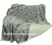 Coperta plaid in pile morbida mis 150x200 cm