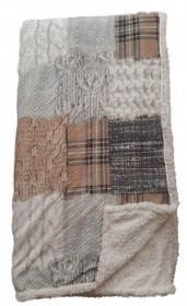 Coperta plaid in morbido pile con p